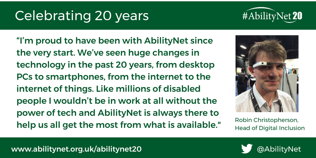 Photo of Robin Christopherson MBE, Head of Digital Inclusion at AbilityNet