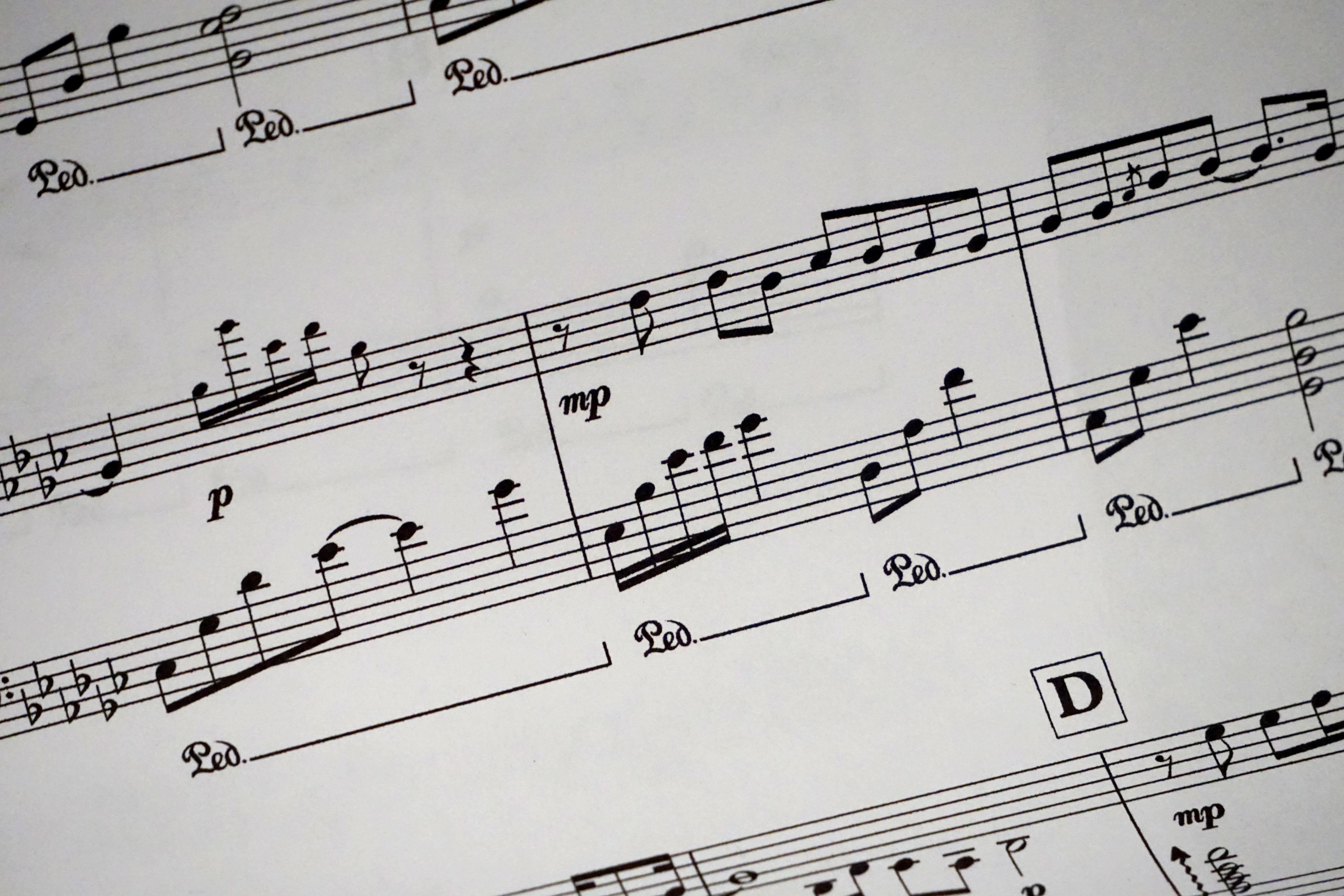 Musical notes on a score