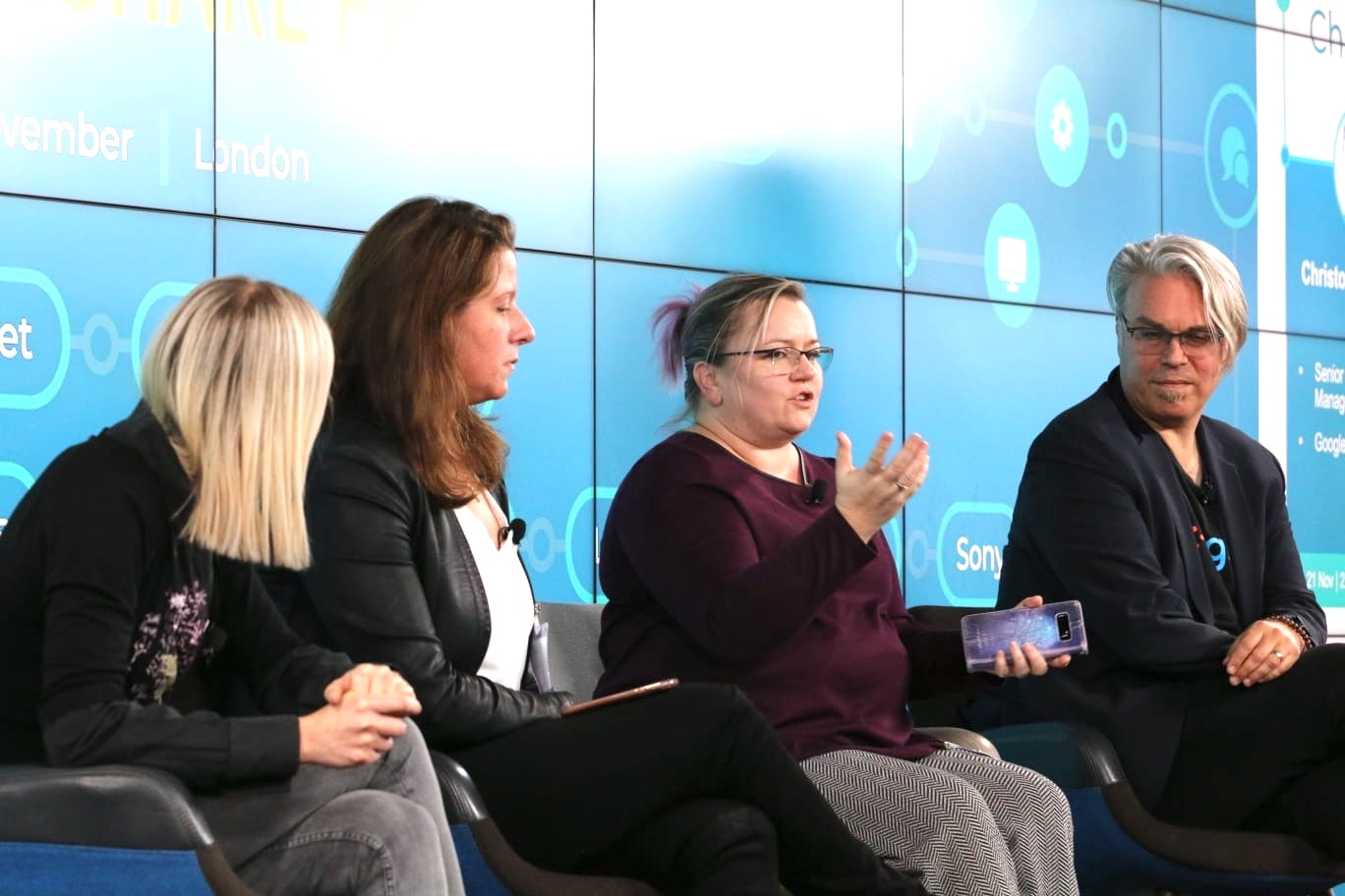 The 'Building an Accessibility Champions network' panelists at TechShare Pro