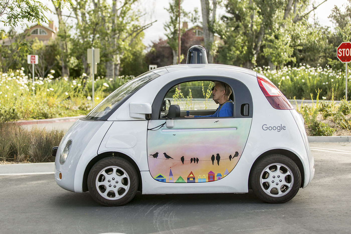 cool looking driverless Google car from UCL website