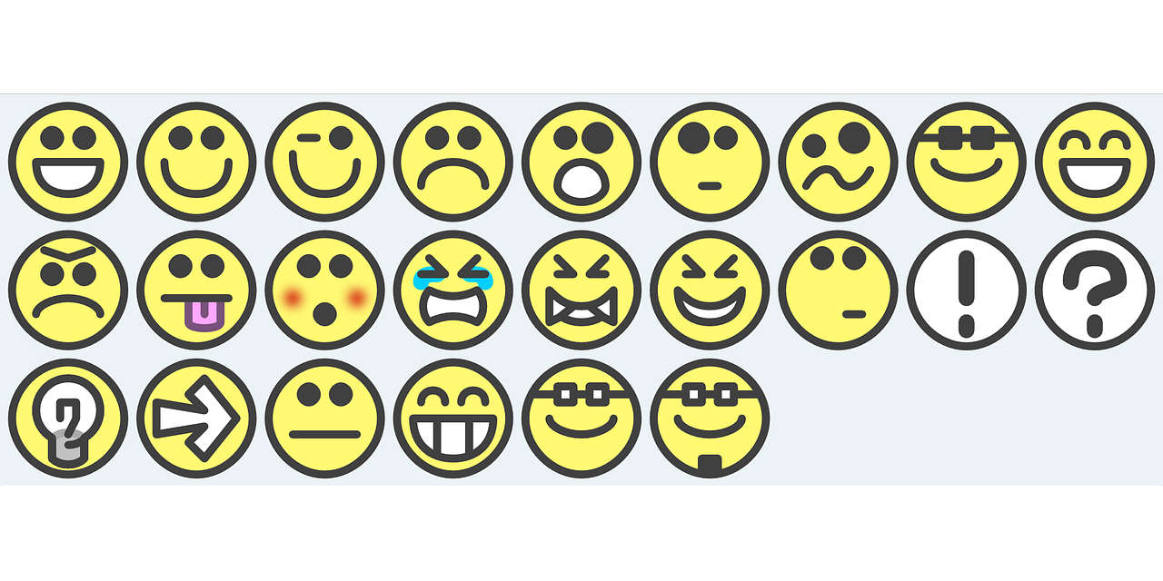 Image of different emoticons