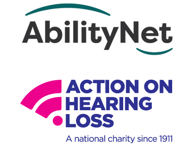 AbilityNet and Action on Hearing Loss logos
