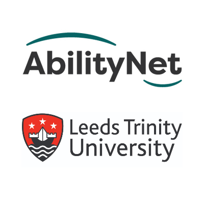 AbilityNet and Leeds Trinity University logo