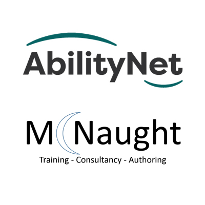AbilityNet and McNaught logos