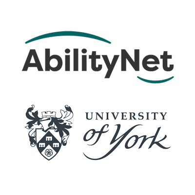 AbilityNet and University of York logos