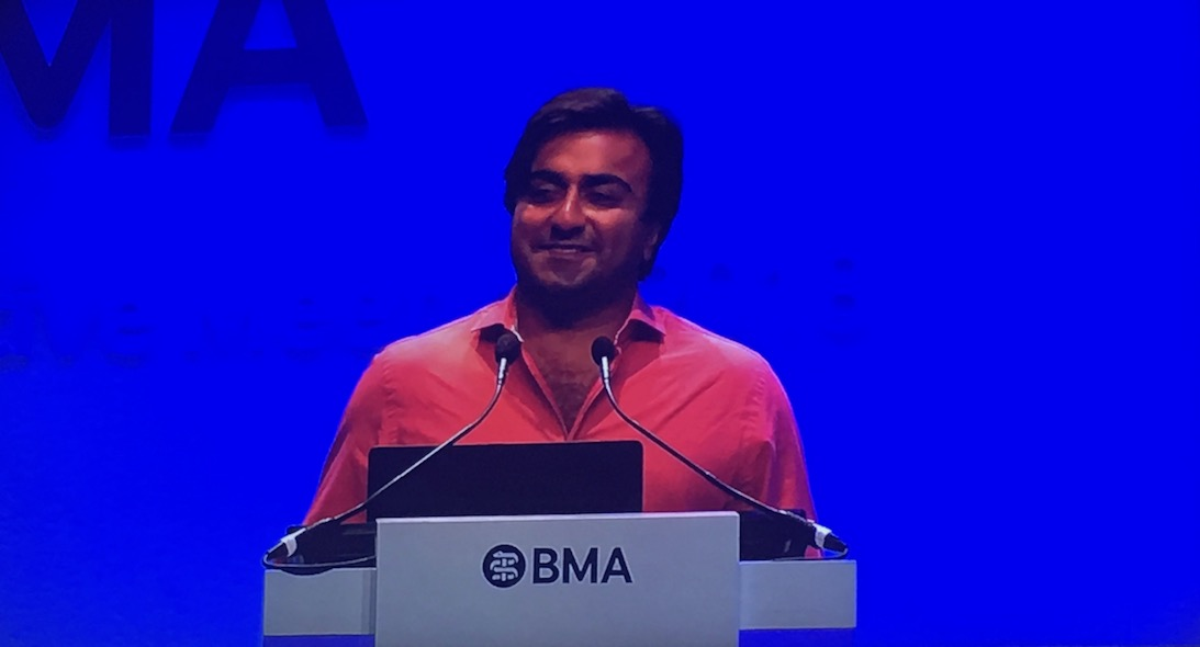 AbilityNet's Adi Latif spoke at the BMA Conference in June 2018 about the role of tech in helping disabled people with their health care