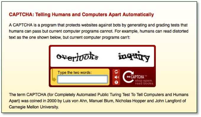 Website Security: Sorting the Humans From the Robots   AbilityNet