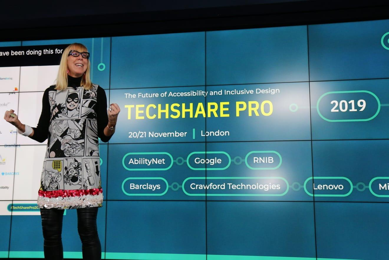 Picture of Caroline Casey at TechShare Pro 2019