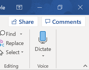 Screengrab showing the position of the screen grab icon in Word