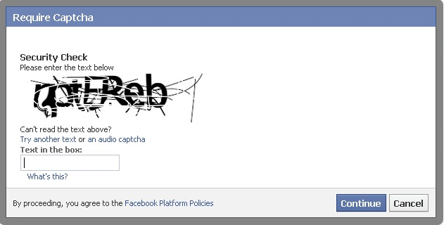 Example of a hard to read CAPTCHA