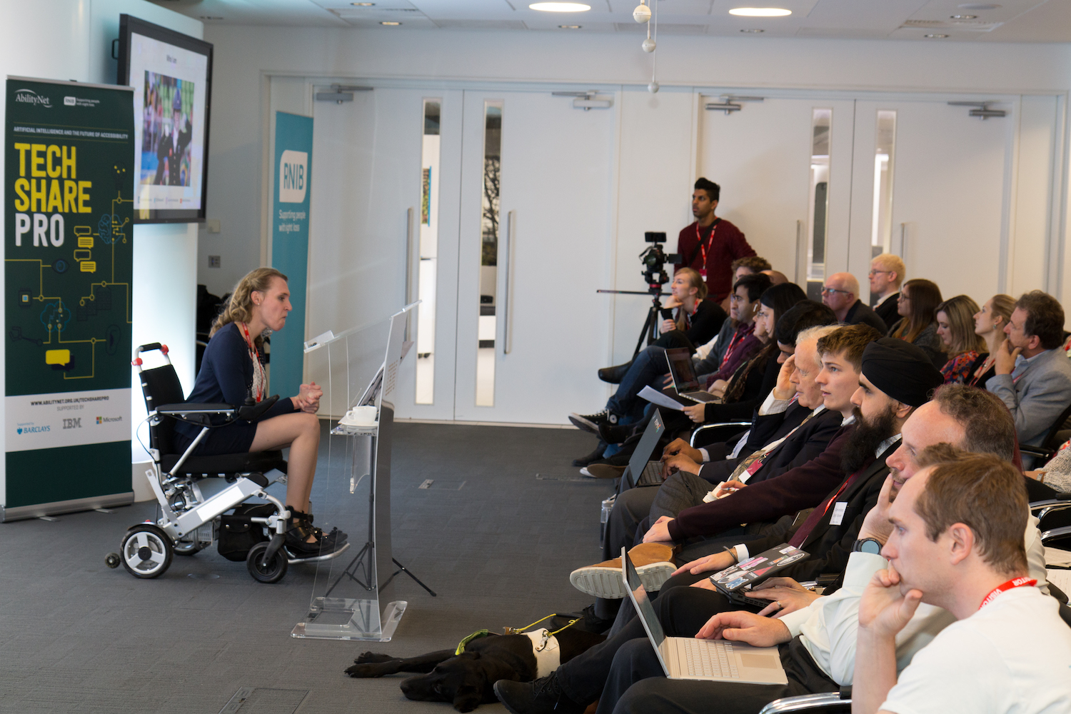 Sophie Christiansoon was a guest speaker AbilityNet's TechShare pro