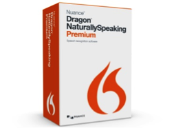 Box of Dragon NaturallySpeaking software