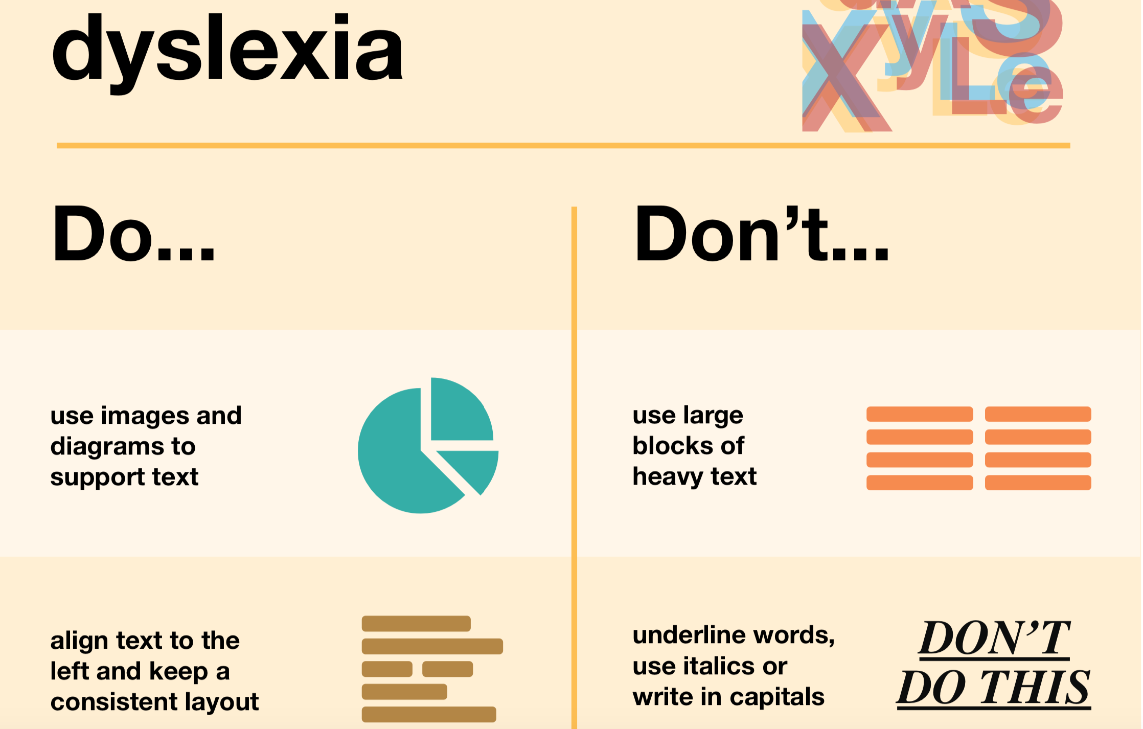 dyslexia accessibility do's and don'ts