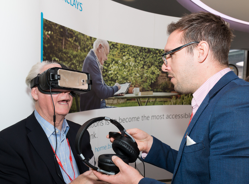 Barclays offered a chance to try new VR solutions at AbilityNet's TechShare pro event