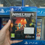 Minecraft game in packing on a shelve at a store