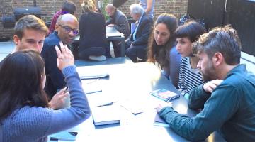 workshop participants at the recent IxDA event