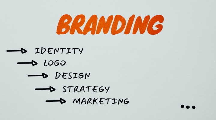 """Image shows the word branding and underneath it """"identity, logo, design, strategy, marketing""""."""