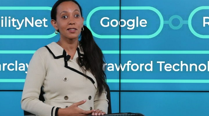 Haben Girma on stage at TechShare Pro