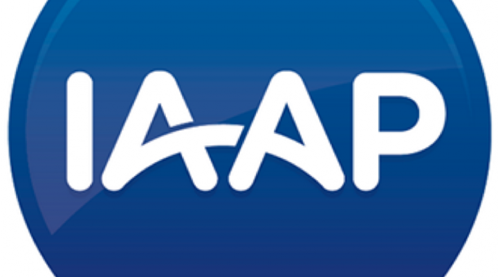 IAAP logo with blue background