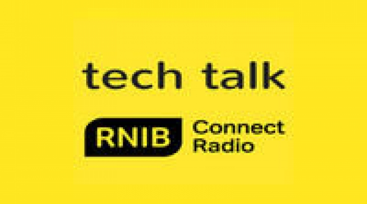 Tech Talk with RNIB logo and connect radio