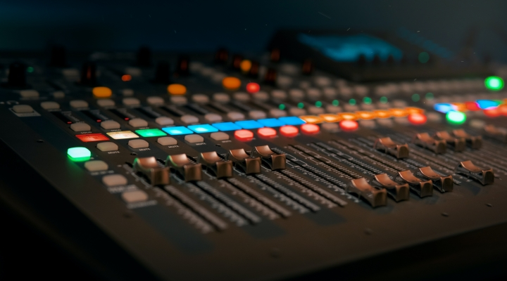 A picture of a DJ mix desk