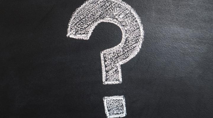 Question drawn on chalkboard