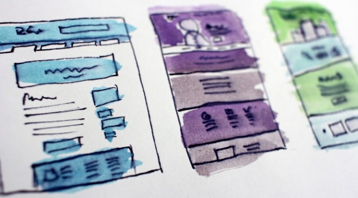 Sketches of website designs